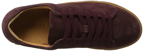 Selezionato Femme Damen Sfdonna Suede New Sneaker Mehrfarbig (vino Da Vigna)