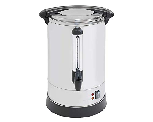 Clevr 20 Liter Coffee Machine Commercial Size Urn | Improved Stainless Steel Percolator System | Extra Large Brewing 135 Servings 5.2 Gallons | Fundraisers Parties Weddings | No Coffee Filters Needed