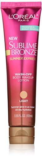 L'Oréal Paris Sublime Bronze Summer Express Body Makeup Lotion, Light, 3.55 fl. oz.