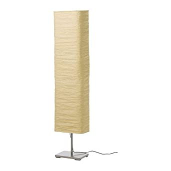 Floor Lamp Paper Shade: Modern Rice Paper Shade Asian Floor Mood Lamp , 3 Warm Led Bulbs Are  Included,Lighting
