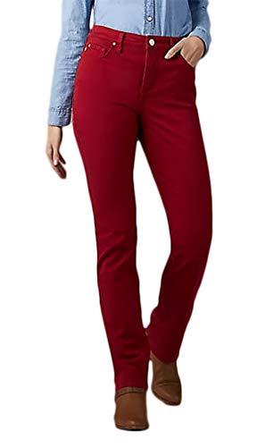 LEE Misses Gwen Platinum Label Classic Fit Jeans, Red Dahlia, Size 8M