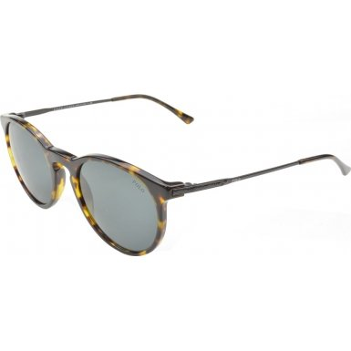 Polo Ralph Lauren Men's 0PH4096 Round Sunglasses, Havana,Grey,Demi & Shiny Black, 50 - Havana Lauren Sunglasses Ralph