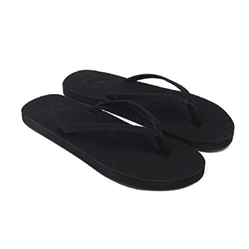 Elevin (tm) Flip Flops Sandaler Mann Kvinner Unisex Anti Kilen Plateform Strand Casual Sko Loafer Muldyr Huset Tøfler Svart