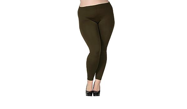 Simplicidad de la mujer Plus tamaño con forro polar de invierno LEGGINGS - 88-SSP9000AMG, 3211_verde armi: Amazon.es: Deportes y aire libre
