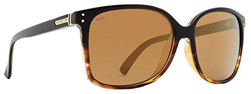 VonZipper Adults Castaway Polarized Sunglasses, Black Tortoise Fade Gloss/Wild Gold Flash Lens (Fade Frame Gold Lens)