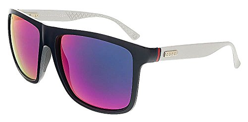 Gucci Men's GG 1075/S Blue Palladium/Gray Infrared (Palladium Blue Sunglasses)