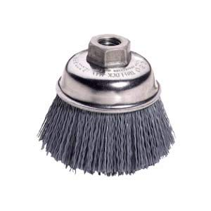 Weiler 14403, Nylox Crimped Silicon Carbide Cup Brush, 2-3/4, 180 Grit, 1/4 Shank (3 Units)