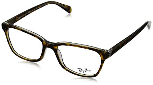 Ray-Ban RX5362 Square Eyeglass Frames, Tortoise On Transparent/Demo Lens, 52 mm