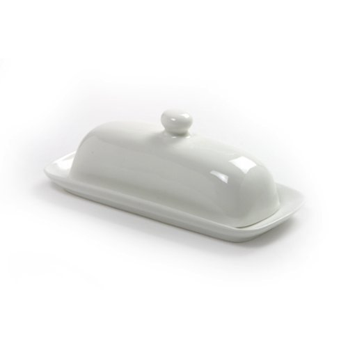 Norpro Porcelain Butter Dish with Lid (Renewed)