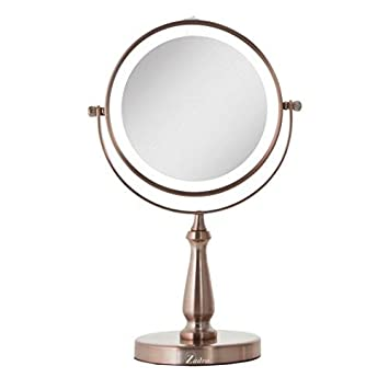 Zadro Lighted Makeup Mirror.Amazon Com Rose Gold Zadro Next Generation Two Sided Led