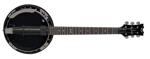 Dean BW6CEBC Backwoods 6 Banjo with Pickup, Black Chrome by Dean Guitars