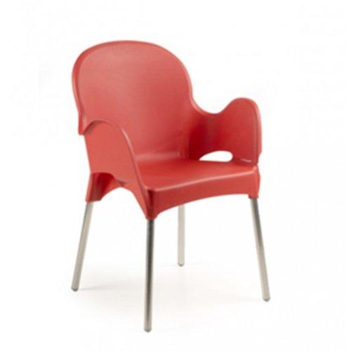 Ipae-Progarden Atena apilables sillas con reposabrazos y ...