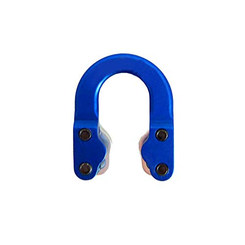 (Lecimo 1 x Archery Compound Bow and Arrow Shooting Parts Hunting Metal D Ring Loop Hot (Blue))