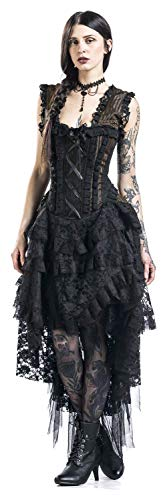 Noir marron Robe Burleska Longue Ophelia qATwCnvP