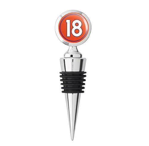 Round #18 Peyton Manning Denver Colors (number 18 broncos) Metal Wine Bottle -
