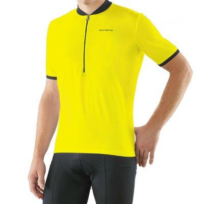 Giordana 2008 Strada Short Sleeve Cycling Jersey - Yellow - (GI-SSJY-STRA-YELL) (L)