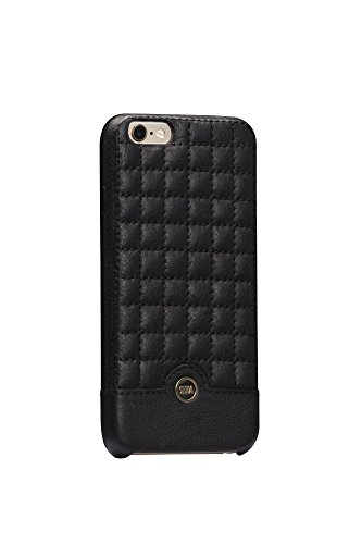 (Sena Cases Genuine Leather ISA Quilted snap on iPhone 6 /6s (Black/Gold))