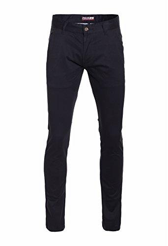 (Perruzo Men's Skinny Fit Casual Chino Pants (36W x 32L, Black))