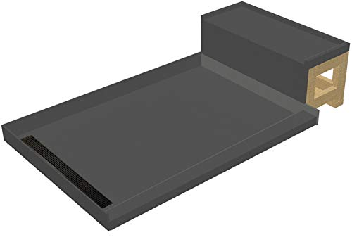 "Tile Redi USA RT3048L-OB-RB30-KIT-2.5 Base'N Bench Shower Pan 60"" W x 30"" D Oil Rubbed Bronze"