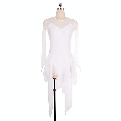 Rete White Scollo In Da Barchetta In Maniche Pattinaggio Nylon Con Corte Ritmica Maglia Dress A Abito A Sexy A Y4UPqwP