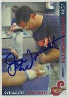 Jon Woodworth Syracuse Skychiefs - Blue Jays Affiliate 1998 Grandstand Autographed Card - Minor League Card. This item comes with a certificate of authenticity from Autograph-Sports. Autographed