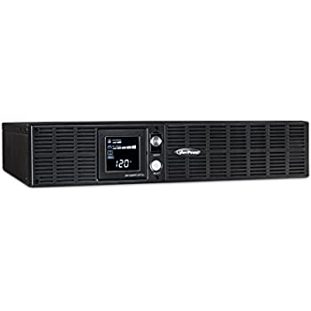 CyberPower OR1500PFCRT2U PFC Sinewave UPS System, 1500VA/1050W, 8 Outlets, AVR, 2U Rack/Tower