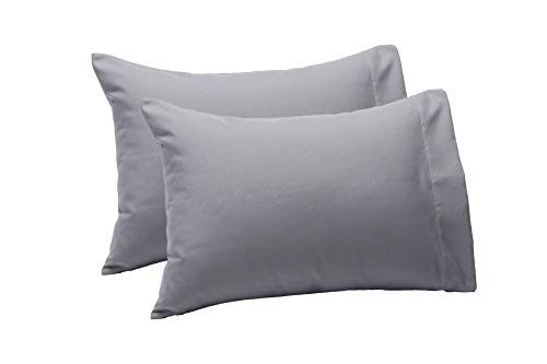 - BS Microfiber Soft Toddler and Travel Pillowcases (2 Pack, 14 in x 20 in), Fits Various Pillow Sizes up to 14x19, One Side Open and Machine Washable, Grey