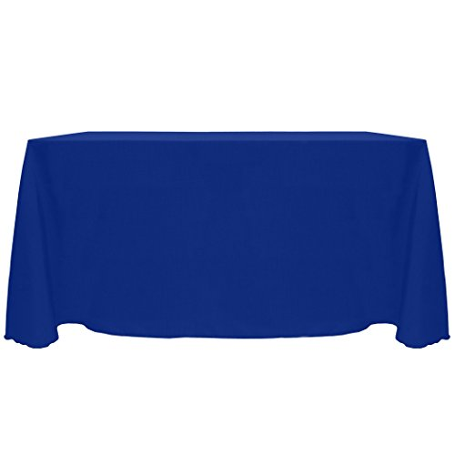 Ultimate Textile Reversible Shantung Satin - Majestic 90 x 120-Inch Rectangular Tablecloth Royal ()