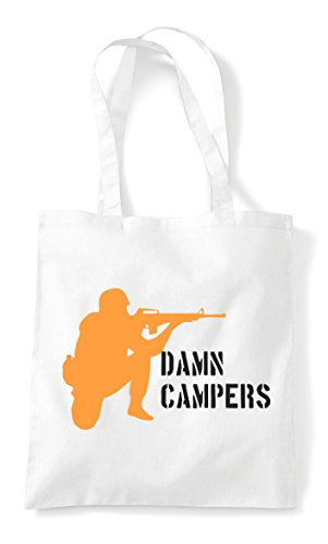 Statement Campers Damn White Shopper Bag Gaming Multiplayer Pvp Tote Online 7q1qdX