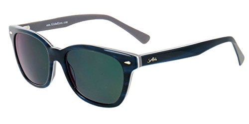 Aloha Eyewear Tek Spex 1010 Unisex Digital Progressive Bifocal NO LINE Reader Sunglasses (Blue w/ Gray - Sunglasses Dark Prescription Extra