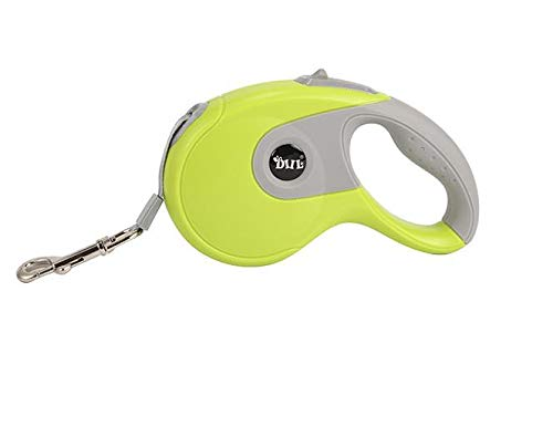 Green 3Retractable Dog Leash, Heavy Duty Dog Walking Leash with AntiSlip Handle Strong Nylon Ribbon Extends 10 16ft One Button Brake & Lock TangleFree,orange,5