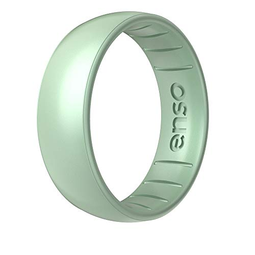 Enso Rings Classic Legend Silicone Ring - Made in The USA - an Ultra Comfortable, Breathable, and Safe Silicone Ring - Men's and Women's Silicone Wedding Ring (Medusa, 7)