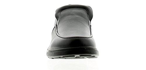 caballero Negro Reino hombre para Shoes 13 Nuevo 15 Negro Wider on Casual para Slip Comfisole Tamaños Unido Fitting 71fFnOn