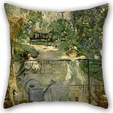 Alphadecor The Oil Painting Berthe Morisot - The Basket Chair Pillowcase Of ,20 X 20 Inches / 50 By 50 Cm Decoration,gift For Gril Friend,kids Room,bf,him,car Seat,couples (each Side)