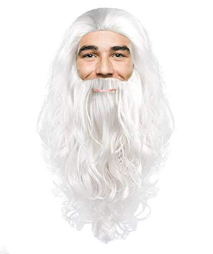 Santa Claus Wig & Beard Set White ()