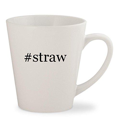 #straw - White Hashtag 12oz Ceramic Latte Mug Cup