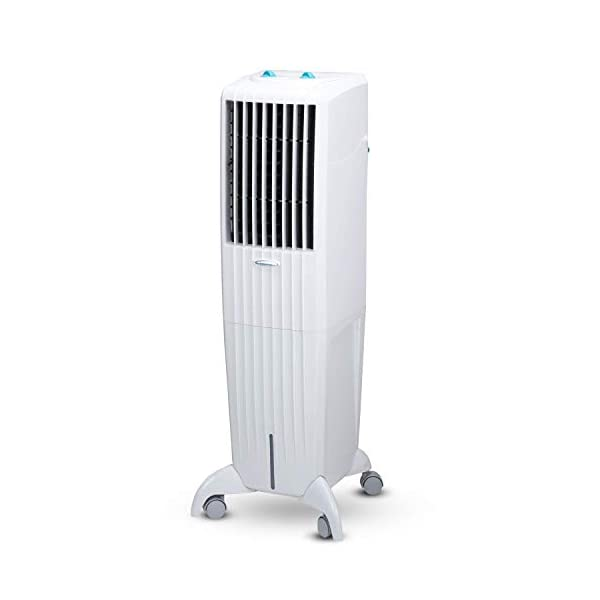 Symphony Diet 35T Sleek & Powerful Personal Tower Air Cooler 35-litres, Multi-Stage Air Purification, Honeycomb Pad… 2021 July Capacity: 35 liters; Coverage Area: Ideal for room size up to 15 square meters Warranty: 1 year on manufacturing defects. For any product-related queries after its delivery, please call us or WhatsApp 'Hi' on +91 – 9510976161. Note: Warranty is applicable from the date of invoice Cooling Media: Highly-effective honeycomb cooling pads, powerful blower, and cool flow dispenser ensures superior cooling