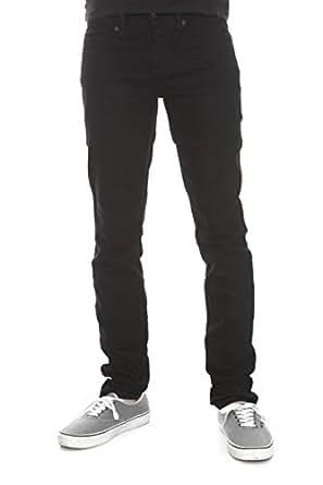 RUDE Black Skinny Fit Denim Jeans