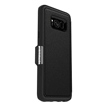 uk availability 650a6 ade97 OtterBox Strada Series for Samsung Galaxy S8+ - Retail Packaging - Onyx  (Black/Black Leather)