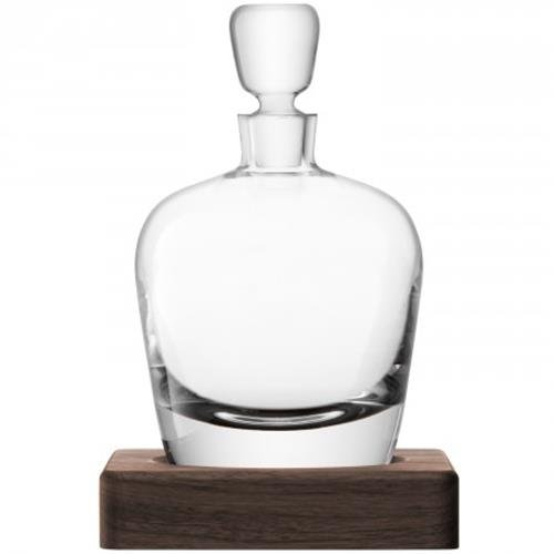LSA International Whisky Arran Decanter, 33.8 fl. oz., Clear/Walnut