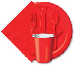 Heavy Duty Cutlery Assortment 24/Pkg-Classic Red