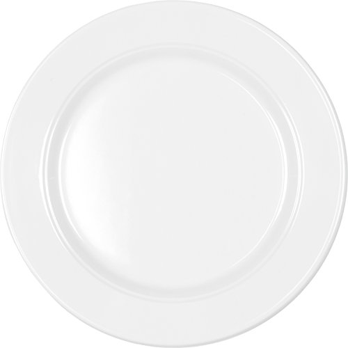 Q Squared Diamond Round Salad Plate, 8-Inches, Set of 4, White