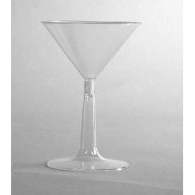 (96 per Carton) 6 oz Comet Plastic Martini Glass in Clear