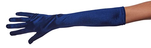 Ambers Very Long Satin Gloves Assorted Glove Colors: Navy Blue