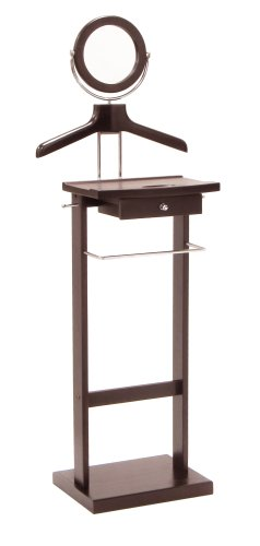 Winsome Wood Valet Stand with Mirror and Drawer, Espresso