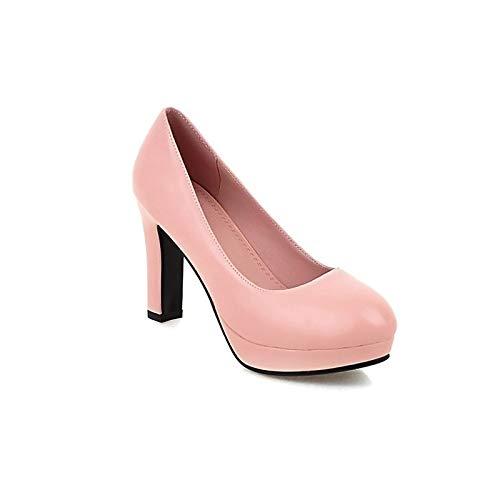 Beige amp; ZHZNVX Chunky Heels Shoes Pink Women's Heel Summer Comfort Polyurethane Pink PU Black Spring wwgFx7qH