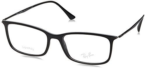 Ray Ban RX7031 Light Ray Eyeglasses-2000 Shiny Black-55mm