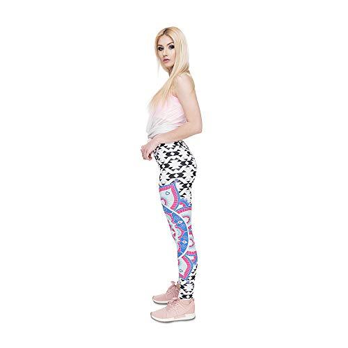 ad da Lybtrouser elasticit leggings donna Pantaloni alta stampati w45OCxnpOq