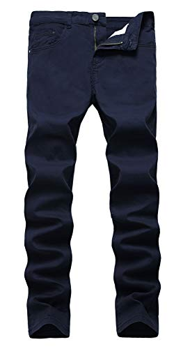 - NITAGUT Men's Skinny Slim Fit Stretch Comfy Fashion Denim Jeans Pants (US 30, Dark Blue)