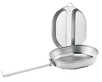 Rothco G.I. Type Stainless Steel Mess Kit, Silver, O/S